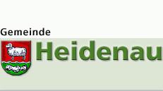 Gemeinde Heidenau Wappen und Schriftzug